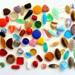 Perlas de vidrio prensadas